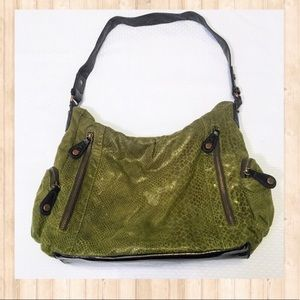 Apt. 9 green crocodile green shoulder bag
